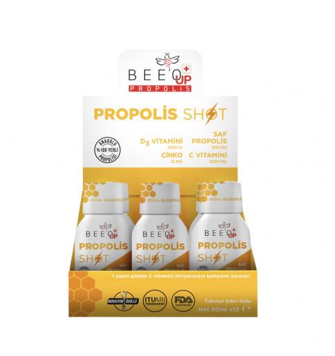 Propolis Çinko D3+C Vitamini Shot 12'li Kutu