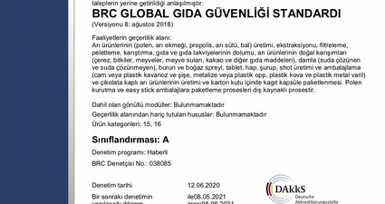 BRC Global Gida Güvenligi Standardi